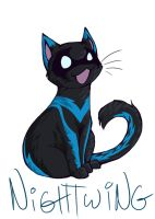 nightwanging kitteh by glowyrm