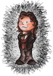 Doctor Doodle - Cravat and Curls by lizzie9009