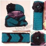 Ear Warmer and Chevron Infinity Scarf Set by YunisUnis