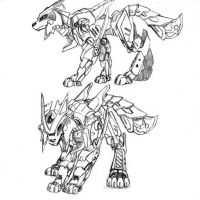 mecha wolf by garuru