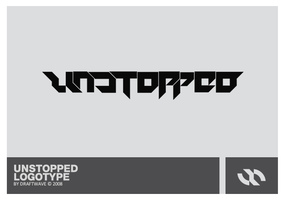 USTOPPED LOGOTYPE by draftwave