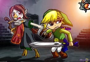 Toon Link and Medli by dreamastermind