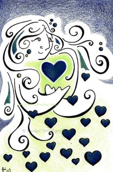 A Mother's Heart Inspires by rachelillustrates