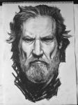 Jeff Bridges Portrait by Goldmops