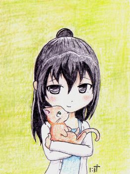 with a kitten by Bastet-mrr