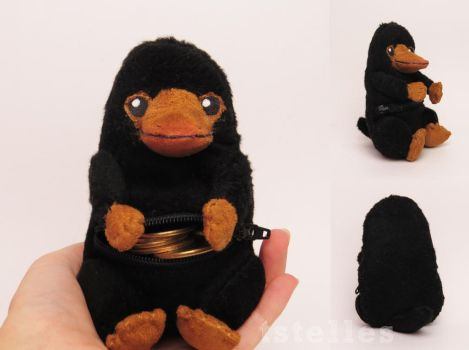Niffler coin purse - Fantastic Beasts by tstelles