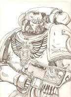 space marine fan art by dathore