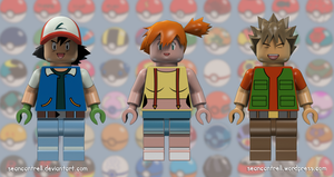 Lego Pokemon Trainers - Indigo League by seancantrell
