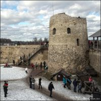 In the courtyard of an ancient fortress by NikolaiMalykh