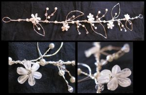 Moonflower Handmade Hair Vine by TwoSpooons
