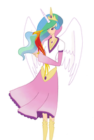 Princess Celestia and Philamena by TheCheeseburger