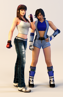 3DS Render Request: Hitomi and Asuka by x2gon