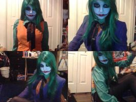 Genderbent Joker Cosplay Makeup Test Collage by HollowPointCosplays