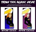 Draw this again Batgirl July 2015 by VPizarro626