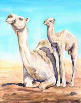 Camels by GeorgeArt23