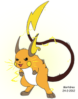 Raichu by Mortdres
