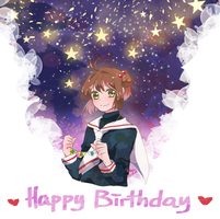 Happy Birthday sakura by sychin0401