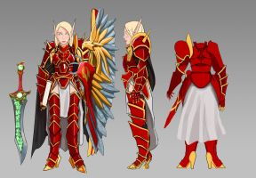 Blood Knight 3 views by lazyseal8