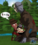 The VERY BIG Jason (Freddy x Jason SLASH Warning!) by Sapphiresenthiss