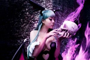 Skull love by VampBeauty