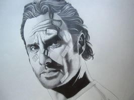 Rick Grimes final by corysmithart