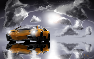 Lamborghini concept orange by Reinder88