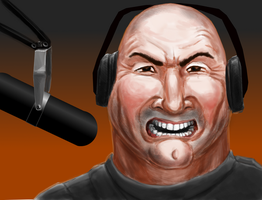 Angry Radio Host by grimdrifter