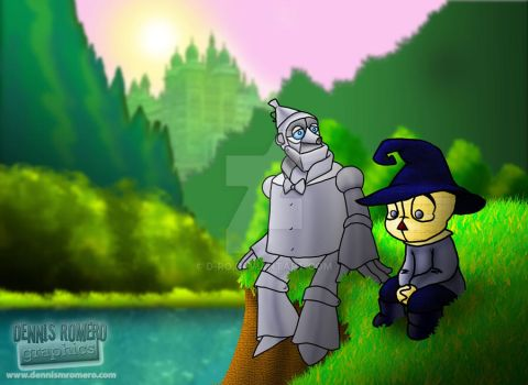 Scarecrow and Tinman by D-Ro