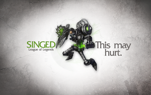League of Legends Wallpaper - Singed by deSess