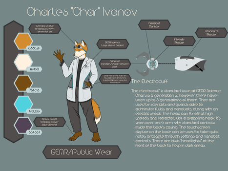Char Reference (GEAR Attire and Electrocuff) by thetfkitsune