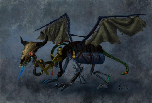 creature of 9 dragon concept by diethyloxide
