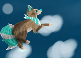 Jumping As High As The Clouds .:SPEEDPAINT:. by Kitty-Lamp
