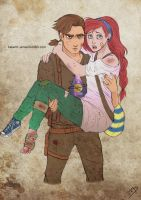 The Walking Disney : Jim and Ariel by Kasami-Sensei