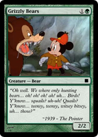 MTG Grizzly Bears Mickey Mouse by clampfan101