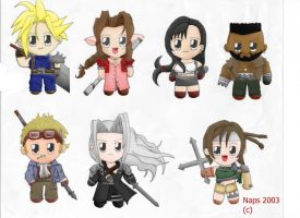 Final Fantasy 7 Chibi by napsalm
