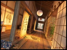 Samurai house by 3DSerge