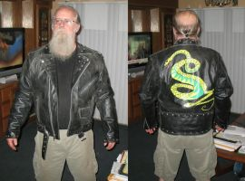 Tunnel snake jacket for client by emptysamurai