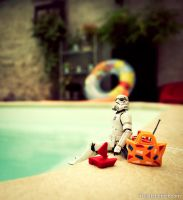 Stormtrooper at pool by Z-UO