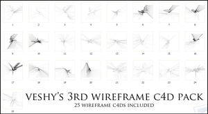 Veshy's 3rd WireFrame Pack by VeshyDesigns07