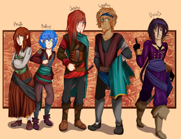 Pirate OCs Lineup by BlubberBooty