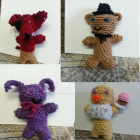 Crochet: Main FNAF Crew by KnightofCrochet