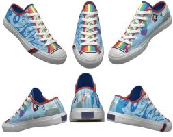 Rainbow Dash Shoes by penguinprotecter