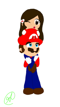 comision: Emely x Mario X) by nintenloid