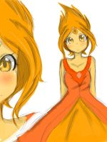 Flame Princess doodle by rainbowanime