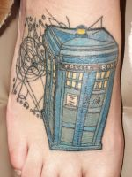 TARDIS tattoo by LaurenWiles