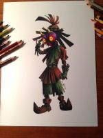 Skull kid wip by Leetlebug
