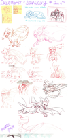 December - January Sketchdump 1 by aacrell