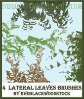 lateral foliage brushes by EveBlackwoodStock