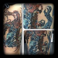Venom vs Carnage by state-of-art-tattoo