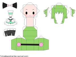 Happy Synthesizer Gumi Papercraft by Tamuu-ii